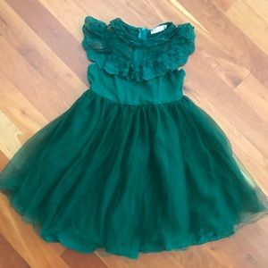 Other - Hunter Green Lace Tulle Dress